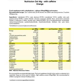 Nutrixxion Sachets Gels énergétiques Avec caféine 24 x 44g, Orange